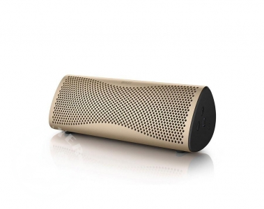 KEF_Muo_wireless_bluetooth_speaker_gold_audible_fidelity_ukbuyer_uk_classifieds