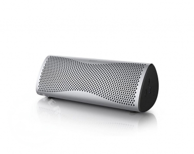 KEF_Muo_wireless_bluetooth_speaker_silver_audible_fidelity_ukbuyer_uk_classifieds