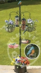 Decorative Bird House - Bath and Feeders